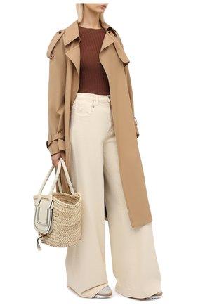 Женский кашемировый пуловер ALLUDE коричневого цвета, арт. 205/11135 | Фото 2 (Длина (для топов): Стандартные; Рукава: 3/4; Женское Кросс-КТ: Пуловер-одежда; Материал внешний: Шерсть, Кашемир)