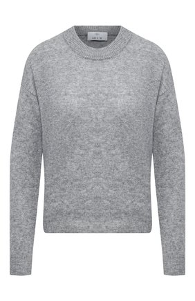 Женский пуловер из шерсти и кашемира ALLUDE серого цвета, арт. 205/17001 | Фото 1 (Материал внешний: Шерсть; Длина (для топов): Стандартные; Рукава: Длинные; Женское Кросс-КТ: Пуловер-одежда)
