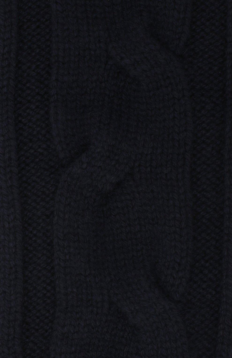 Женские кашемировые носки LORO PIANA темно-синего цвета, арт. FAI3620   Фото 2