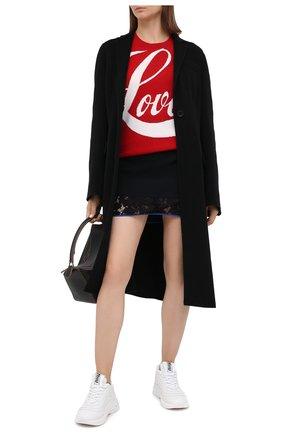 Женский шерстяной пуловер N21 красного цвета, арт. 20I N2P0/A008/7081   Фото 2