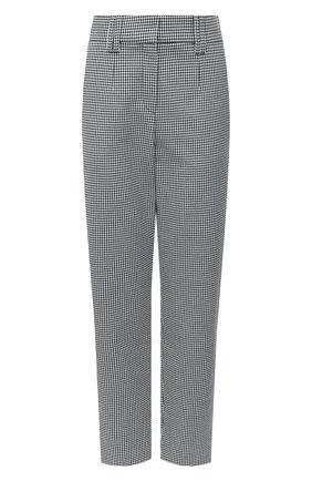 Женские хлопковые брюки BALMAIN черно-белого цвета, арт. UF15172/C245 | Фото 1
