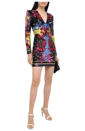 Женское платье с пайетками BALMAIN разноцветного цвета, арт. UF16383/P053 | Фото 2