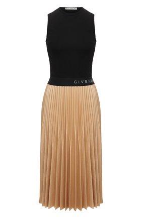 Женское платье из вискозы GIVENCHY кремвого цвета, арт. BW20PM3Z26   Фото 1