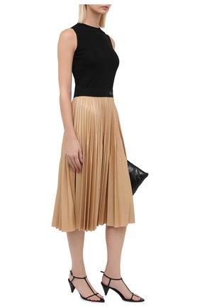 Женское платье из вискозы GIVENCHY кремвого цвета, арт. BW20PM3Z26   Фото 2