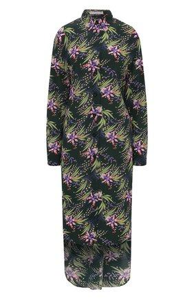 Женское шелковое платье GIVENCHY зеленого цвета, арт. BW20ZA1367 | Фото 1