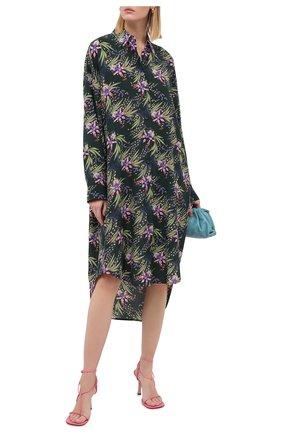 Женское шелковое платье GIVENCHY зеленого цвета, арт. BW20ZA1367 | Фото 2