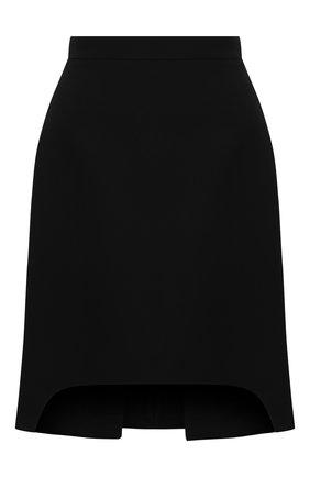 Женская юбка из шерсти и шелка ALEXANDER MCQUEEN черного цвета, арт. 639987/QJAAA | Фото 1
