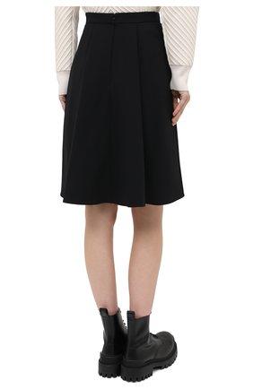 Женская юбка из шерсти и шелка ALEXANDER MCQUEEN черного цвета, арт. 639987/QJAAA | Фото 5