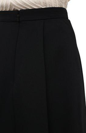 Женская юбка из шерсти и шелка ALEXANDER MCQUEEN черного цвета, арт. 639987/QJAAA | Фото 6