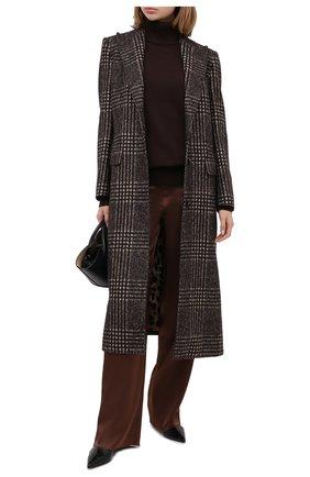 Женский кашемировый свитер DOLCE & GABBANA темно-коричневого цвета, арт. FX832T/JAW5A | Фото 2