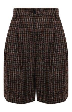Женские шерстяные шорты DOLCE & GABBANA коричневого цвета, арт. FTBX0T/FQMH3 | Фото 1