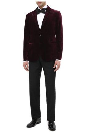 Мужской шерстяные брюки BRIONI черного цвета, арт. RQK40L/09A25/STAZI0 | Фото 2
