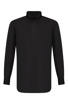 Мужская хлопковая сорочка BRIONI черного цвета, арт. RCX60M/PZ016 | Фото 1
