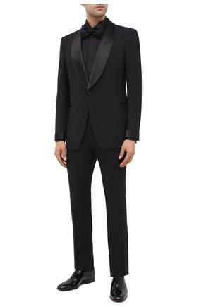 Мужская хлопковая сорочка BRIONI черного цвета, арт. RCX60M/PZ016 | Фото 2