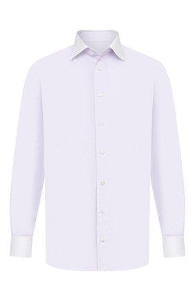 Мужская хлопковая сорочка BRIONI сиреневого цвета, арт. RCA20N/0906X | Фото 1