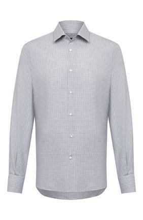 Мужская сорочка из хлопка и кашемира CANALI серого цвета, арт. XX14/GX01931 | Фото 1