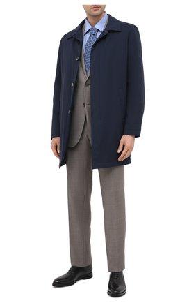 Мужская хлопковая сорочка CANALI синего цвета, арт. XX05/GX02023 | Фото 2 (Рукава: Длинные; Длина (для топов): Стандартные; Случай: Формальный; Материал внешний: Хлопок; Стили: Классический)