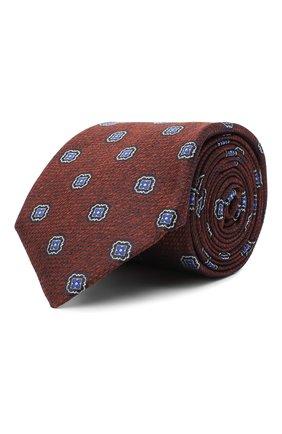 Мужской шелковый галстук CANALI коричневого цвета, арт. 18/HJ02861 | Фото 1