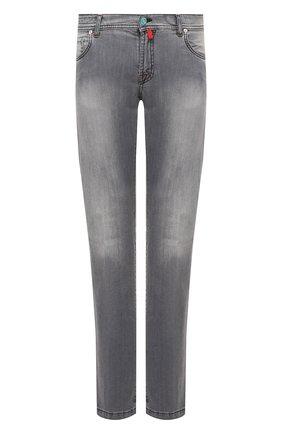 Мужские джинсы KITON серого цвета, арт. UPNJS/J02T65 | Фото 1