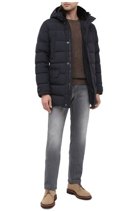 Мужские джинсы KITON серого цвета, арт. UPNJS/J02T65 | Фото 2