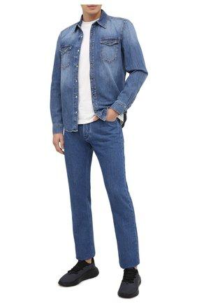 Мужские текстильные кроссовки CANALI синего цвета, арт. 191207/RY00453   Фото 2