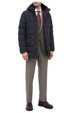 Мужской кожаные дерби CANALI бордового цвета, арт. 231201/RY00468   Фото 2