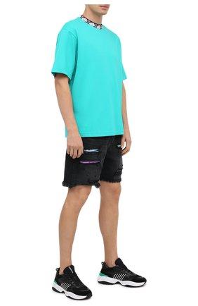 Мужские комбинированные кроссовки d24 DSQUARED2 черного цвета, арт. SNM0096 01502338 | Фото 2