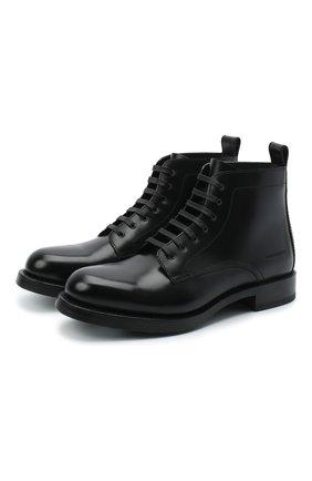 Мужские кожаные ботинки DSQUARED2 черного цвета, арт. ABM0056 24900001 | Фото 1