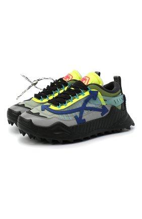 Мужские комбинированные кроссовки odsy-1000 OFF-WHITE разноцветного цвета, арт. 0MIA139E20FAB0011037 | Фото 1