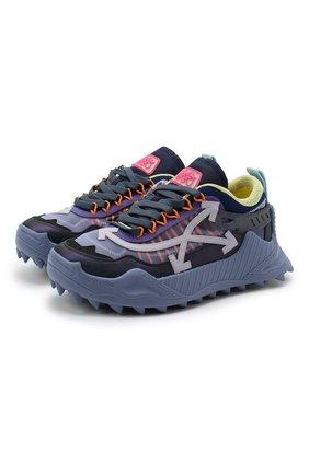 Мужские комбинированные кроссовки odsy-1000 OFF-WHITE фиолетового цвета, арт. 0MIA139E20FAB0013535 | Фото 1