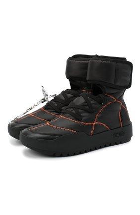 Мужские текстильные кроссовки cst-100 OFF-WHITE черного цвета, арт. 0MIA180E20FAB0011000 | Фото 1