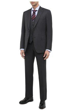 Мужской кожаные дерби DOLCE & GABBANA черного цвета, арт. A10646/AX038 | Фото 2