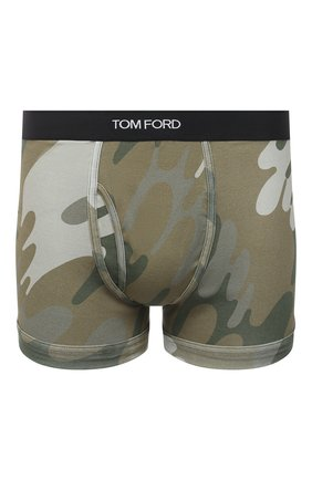 Мужские хлопковые боксеры TOM FORD хаки цвета, арт. T4LC31150 | Фото 1