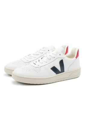 Мужские кожаные кеды VEJA белого цвета, арт. VX021267 | Фото 1