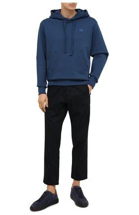Мужские замшевые кеды HOGAN темно-синего цвета, арт. HXM3650J301NZ8 | Фото 2