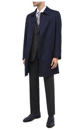 Мужской кожаные дерби ZILLI темно-синего цвета, арт. ZA B24/027 | Фото 2