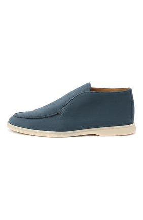 Мужские кожаные ботинки open walk LORO PIANA синего цвета, арт. FAL2888 | Фото 3