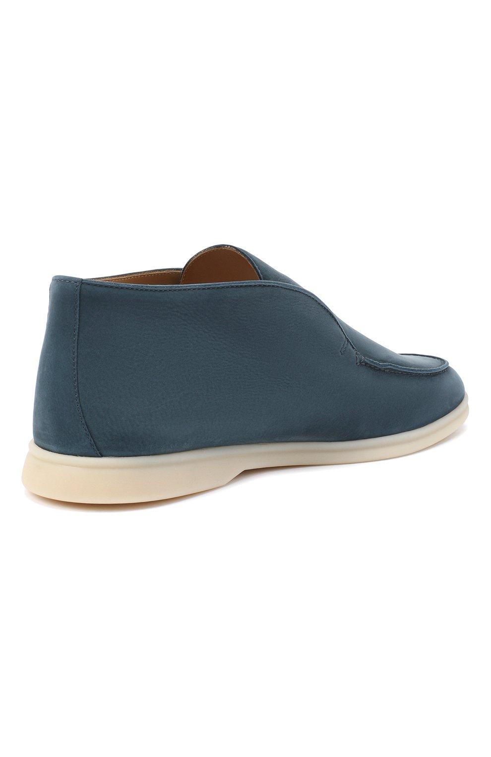 Мужские кожаные ботинки open walk LORO PIANA синего цвета, арт. FAL2888 | Фото 4