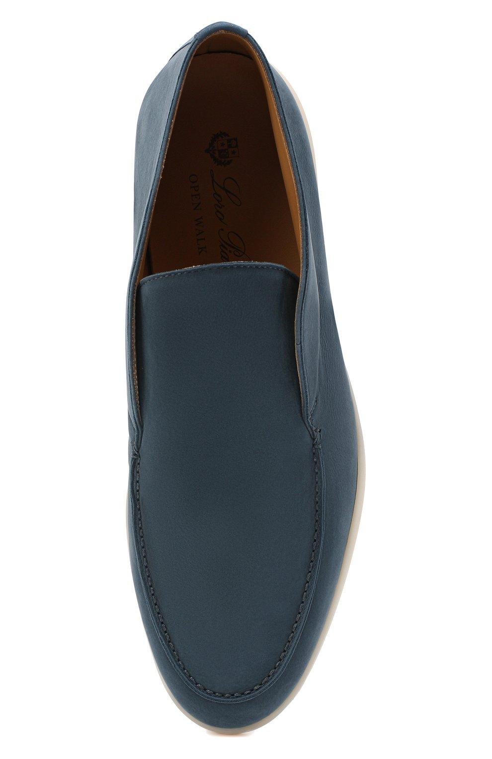 Мужские кожаные ботинки open walk LORO PIANA синего цвета, арт. FAL2888 | Фото 5