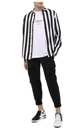 Мужские кожаные кеды wing GIVENCHY черно-белого цвета, арт. BH002KH0PD | Фото 2