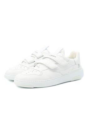 Мужские кожаные кеды GIVENCHY белого цвета, арт. BH003FH0KP   Фото 1