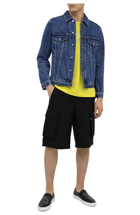 Мужские кожаные слипоны GIVENCHY черного цвета, арт. BH200MH0P0 | Фото 2