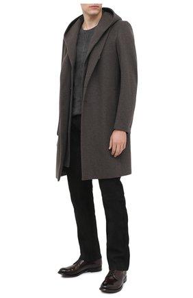 Мужской пальто из шерсти и кашемира KAZUYUKI KUMAGAI темно-серого цвета, арт. AC03-242 | Фото 2
