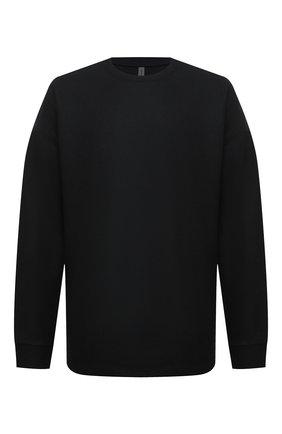 Мужской свитер из шерсти и кашемира KAZUYUKI KUMAGAI черного цвета, арт. KJ03-032 | Фото 1