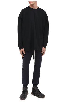Мужской свитер из шерсти и кашемира KAZUYUKI KUMAGAI черного цвета, арт. KJ03-032 | Фото 2