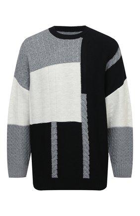 Мужской шерстяной свитер KAZUYUKI KUMAGAI черного цвета, арт. KK03-007 | Фото 1