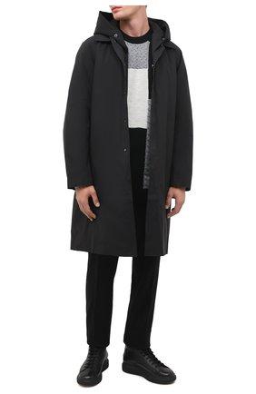 Мужской шерстяной свитер KAZUYUKI KUMAGAI черного цвета, арт. KK03-007 | Фото 2