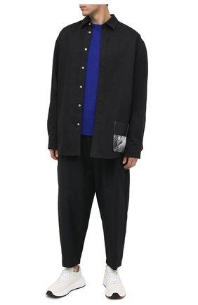 Мужской брюки KAZUYUKI KUMAGAI черного цвета, арт. KP03-004 | Фото 2