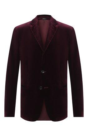 Мужской пиджак GIORGIO ARMANI бордового цвета, арт. 9SGGG06L/T0230 | Фото 1