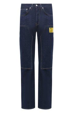 Мужские джинсы HELMUT LANG темно-синего цвета, арт. K04DM201 | Фото 1